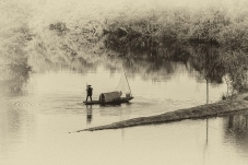 黑白摄影——月亮湾(祝贺老师佳作荣获首页