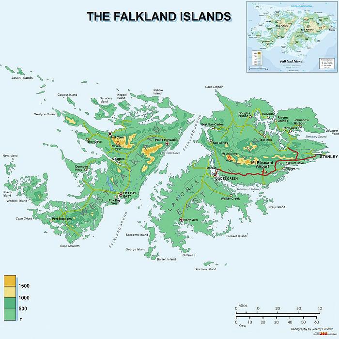 马尔维纳斯群岛地图