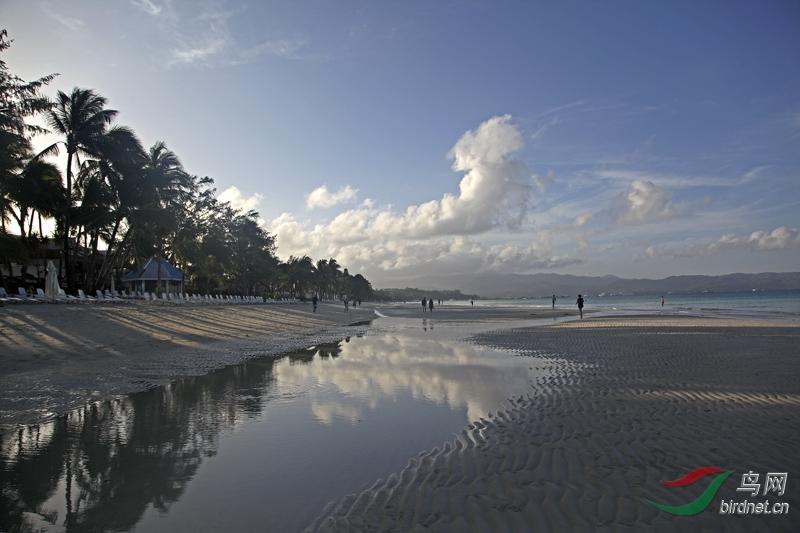 美丽长滩岛-清晨的海滩景色欣赏