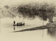 黑白摄影——月亮湾(祝贺老师佳作荣获首页精华)