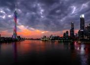 台风来临前夕的广州