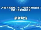 中国鸟类图库和中国哺乳动物图库物种上传数