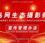 鸟网生态摄影师宣传管理办法