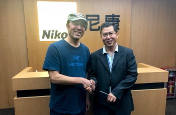 文科总版主会晤索尼和尼康公司中国总部高管