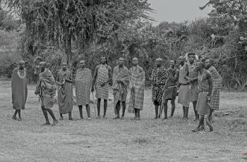 肯尼亚的马赛人---祝贺老师佳作荣获VIP黑白影像首页精华!