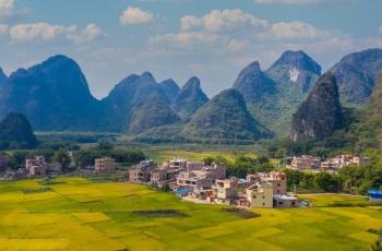 美丽自然的山村